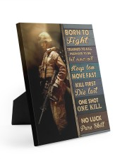Born To Fight Trained To Kill 8x10 Easel-Back Gallery Wrapped Canvas thumbnail
