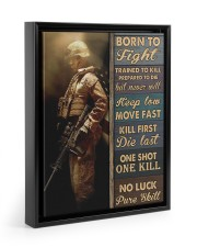 Born To Fight Trained To Kill 11x14 Black Floating Framed Canvas Prints thumbnail