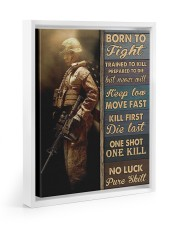 Born To Fight Trained To Kill 11x14 White Floating Framed Canvas Prints thumbnail