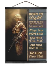 Born To Fight Trained To Kill 16x20 Black Hanging Canvas thumbnail