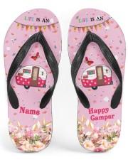 Life Is An Adventure Happy Camper Women's Flip Flops front