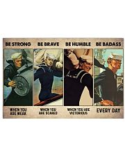 Be Strong When Weak Be Brave When Scared Horizontal Poster tile
