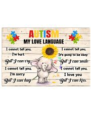 Autism My Love Language I Cannot Tell You I'm Hurt 36x24 Poster front