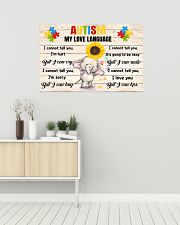 Autism My Love Language I Cannot Tell You I'm Hurt 36x24 Poster poster-landscape-36x24-lifestyle-01
