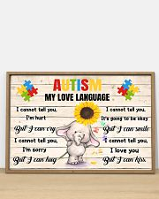 Autism My Love Language I Cannot Tell You I'm Hurt 36x24 Poster poster-landscape-36x24-lifestyle-03