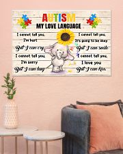 Autism My Love Language I Cannot Tell You I'm Hurt 36x24 Poster poster-landscape-36x24-lifestyle-18
