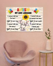 Autism My Love Language I Cannot Tell You I'm Hurt 36x24 Poster poster-landscape-36x24-lifestyle-19