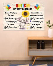 Autism My Love Language I Cannot Tell You I'm Hurt 36x24 Poster poster-landscape-36x24-lifestyle-22