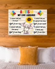 Autism My Love Language I Cannot Tell You I'm Hurt 36x24 Poster poster-landscape-36x24-lifestyle-23