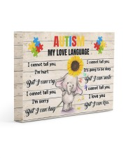 Autism My Love Language I Cannot Tell You I'm Hurt 14x11 Gallery Wrapped Canvas Prints thumbnail
