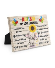 Autism My Love Language I Cannot Tell You I'm Hurt 10x8 Easel-Back Gallery Wrapped Canvas thumbnail