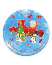 Accept Adapt Advocate Circle Ornament Circle Ornament (Porcelain) tile