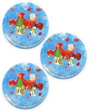 Accept Adapt Advocate Circle Ornament Circle ornament - 3 pieces (porcelain) front