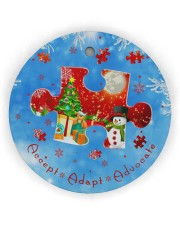 Accept Adapt Advocate Circle Ornament Circle Ornament (Wood tile