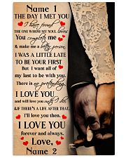 Family Gift Holding Hands The Day I Met You I Love You 24x36 Poster front