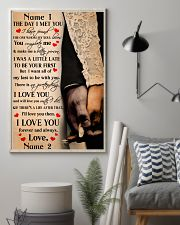Family Gift Holding Hands The Day I Met You I Love You 24x36 Poster lifestyle-poster-1
