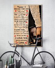 Family Gift Holding Hands The Day I Met You I Love You 24x36 Poster lifestyle-poster-7