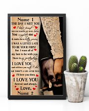 Family Gift Holding Hands The Day I Met You I Love You 24x36 Poster lifestyle-poster-8