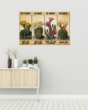Gardening Gift Succulent Cactus Be Strong When Weak Be Brave Be Humle Be Badass 36x24 Poster poster-landscape-36x24-lifestyle-01