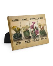 Be Strong When Weak Be Brave When Scared Plants Easel-Back Gallery Wrapped Canvas tile