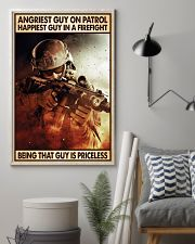 Angriest Guy On Patrol Happiest Guy In A Firefight 11x17 Poster lifestyle-poster-1