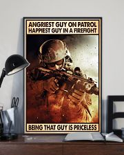 Angriest Guy On Patrol Happiest Guy In A Firefight 11x17 Poster lifestyle-poster-2
