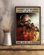 Angriest Guy On Patrol Happiest Guy In A Firefight 11x17 Poster lifestyle-poster-3