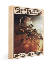 Angriest Guy On Patrol Happiest Guy In A Firefight 11x14 Gallery Wrapped Canvas Prints thumbnail