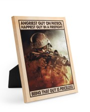 Angriest Guy On Patrol Happiest Guy In A Firefight 8x10 Easel-Back Gallery Wrapped Canvas thumbnail