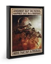 Angriest Guy On Patrol Happiest Guy In A Firefight 11x14 Black Floating Framed Canvas Prints thumbnail