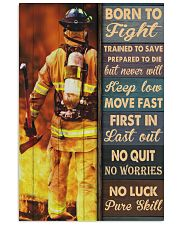 Born To Fight Trained To Save Vertical Poster tile