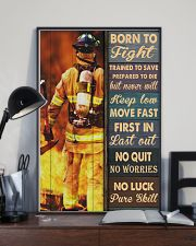 Born To Fight Trained To Save 24x36 Poster lifestyle-poster-2