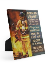 Born To Fight Trained To Save 8x10 Easel-Back Gallery Wrapped Canvas thumbnail