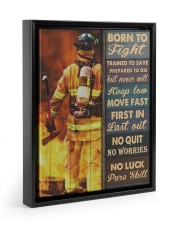 Born To Fight Trained To Save 11x14 Black Floating Framed Canvas Prints thumbnail