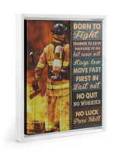Born To Fight Trained To Save 11x14 White Floating Framed Canvas Prints thumbnail