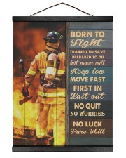 Born To Fight Trained To Save 16x20 Black Hanging Canvas thumbnail