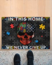 "In This Home We Never Give Up Doormat 34"" x 23"" aos-doormat-34-x-23-lifestyle-front-10"