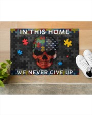 "In This Home We Never Give Up Doormat 34"" x 23"" aos-doormat-34-x-23-lifestyle-front-12"