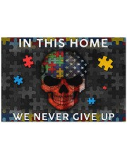 "In This Home We Never Give Up Doormat 34"" x 23"" front"