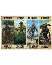 Veteran Be Strong Be Brave Be Humble Be Badass 17x11 Poster front