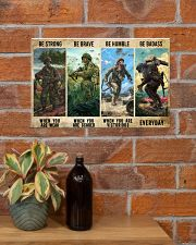 Veteran Be Strong Be Brave Be Humble Be Badass 17x11 Poster poster-landscape-17x11-lifestyle-23
