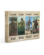 Veteran Be Strong Be Brave Be Humble Be Badass Gallery Wrapped Canvas Prints tile