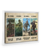 Veteran Be Strong Be Brave Be Humble Be Badass Floating Framed Canvas Prints White tile