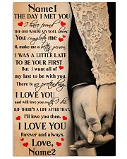 Family Gift Holding Hands The Day I Met You I Have Found The One 24x36 Poster front