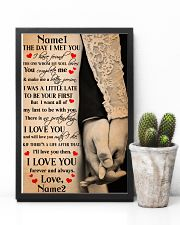 Family Gift Holding Hands The Day I Met You I Have Found The One 24x36 Poster lifestyle-poster-8