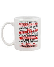 To My Father-In-Law Mug back