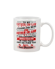To My Father-In-Law Mug front