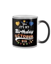 October 9th Birthday Gift T-Shirts Color Changing Mug tile