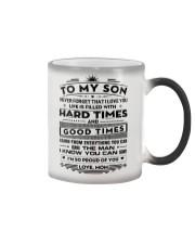 To My Son Color Changing Mug tile