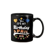 April 4th Birthday Gift T-Shirts Mug tile